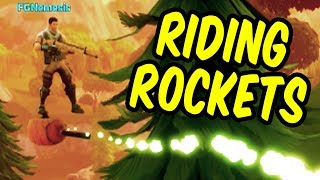 RIDING ROCKETS - Fortnite Battle Royale Funny Moments & Epic Stuff