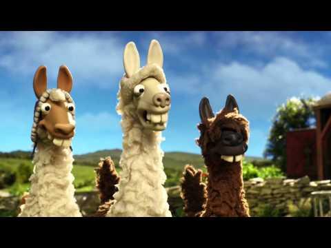 The llamas join Shaun the sheep on the farm - The Farmer's Llamas: Preview - BBC One Christmas 2015
