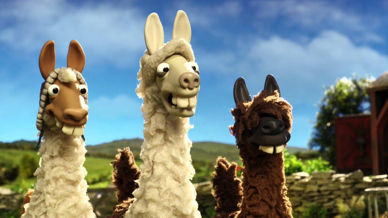 The llamas join Shaun the sheep on the farm - The Farmer's Llamas ...