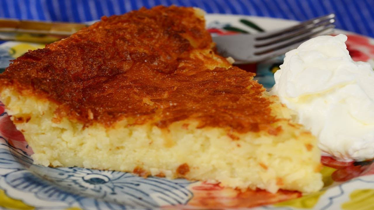 Impossible Coconut Pie Recipe Demonstration - Joyofbaking ...