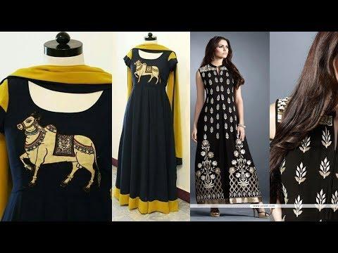 Plain Black Kurti Designs