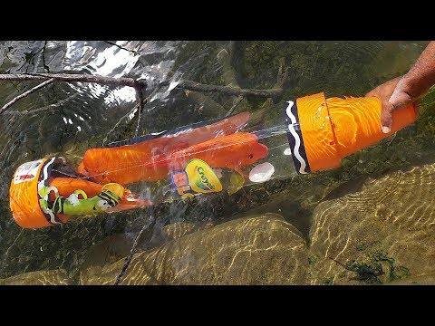 DIY Crayon FISH TRAP Catches Big Fish   Monster Mike Fishing