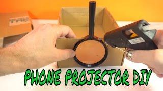 SMARTPHONE PROJECTOR DIY for 5 min 1$