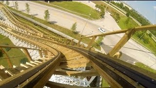 White Lightning Wooden Roller Coaster POV Front Seat Back Seat Off-Ride Fun Spot Orlando
