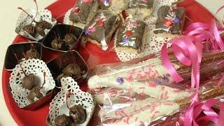 Chocolate Dipped Pretzels, Rice Krispies & Maraschino Cherries For Valentine's Day