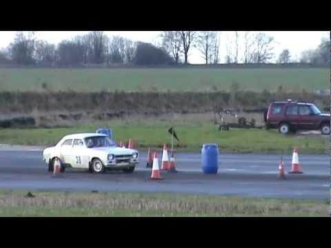 Hall Trophy Rally 2012 at Blyton Robert Rook & Bernard Nolan Twincam escort mk1#38
