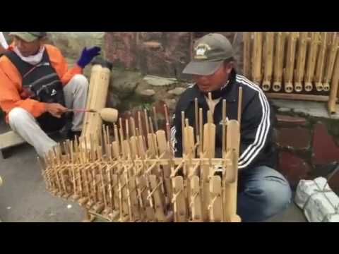 Angklung traditional music instrumental of Indonesian