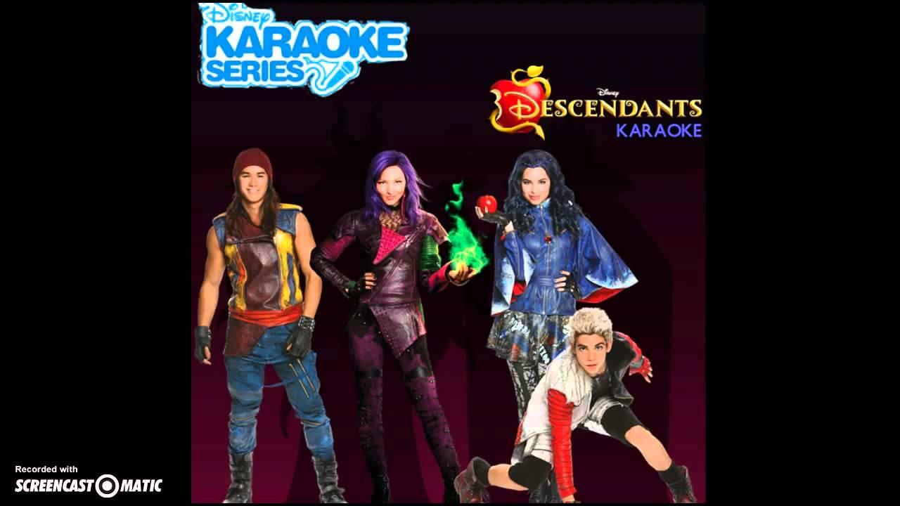 Descendants Cast - Rotten to the Core (Karaoke) [Audio ...