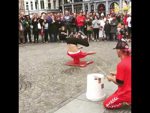 Scotty Page - Watch This: Breakdancer Spins on Head in Front of Crowd on Street