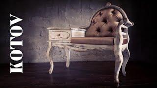 Ретро мебель. Реставрация. Состаривание. Каретная стяжка.