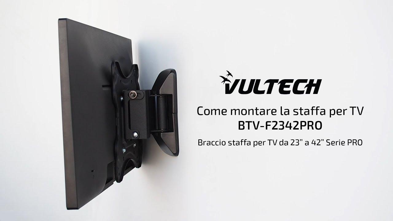Appendere Tv Muro come montare la staffa per tv vultech btv-f2342pro