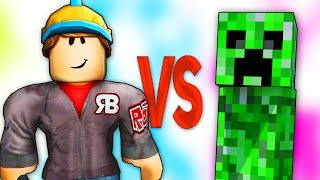 ROBLOX VS MINECRAFT СУПЕР РЭП БИТВА Майнкрафт Крипер ПРОТИВ Роблокс Онлайн Игра