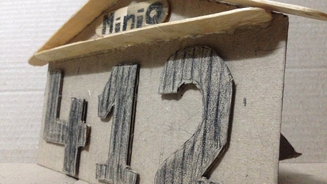 How to Make Pallet Wood House Numbers | Mini Q - Make House Number