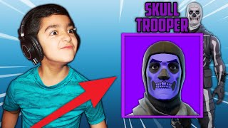"My Little Brother Said, ""He will gift me his PURPLE SKULL TROOPER if I beat him in a Fortnite 1v1!"""