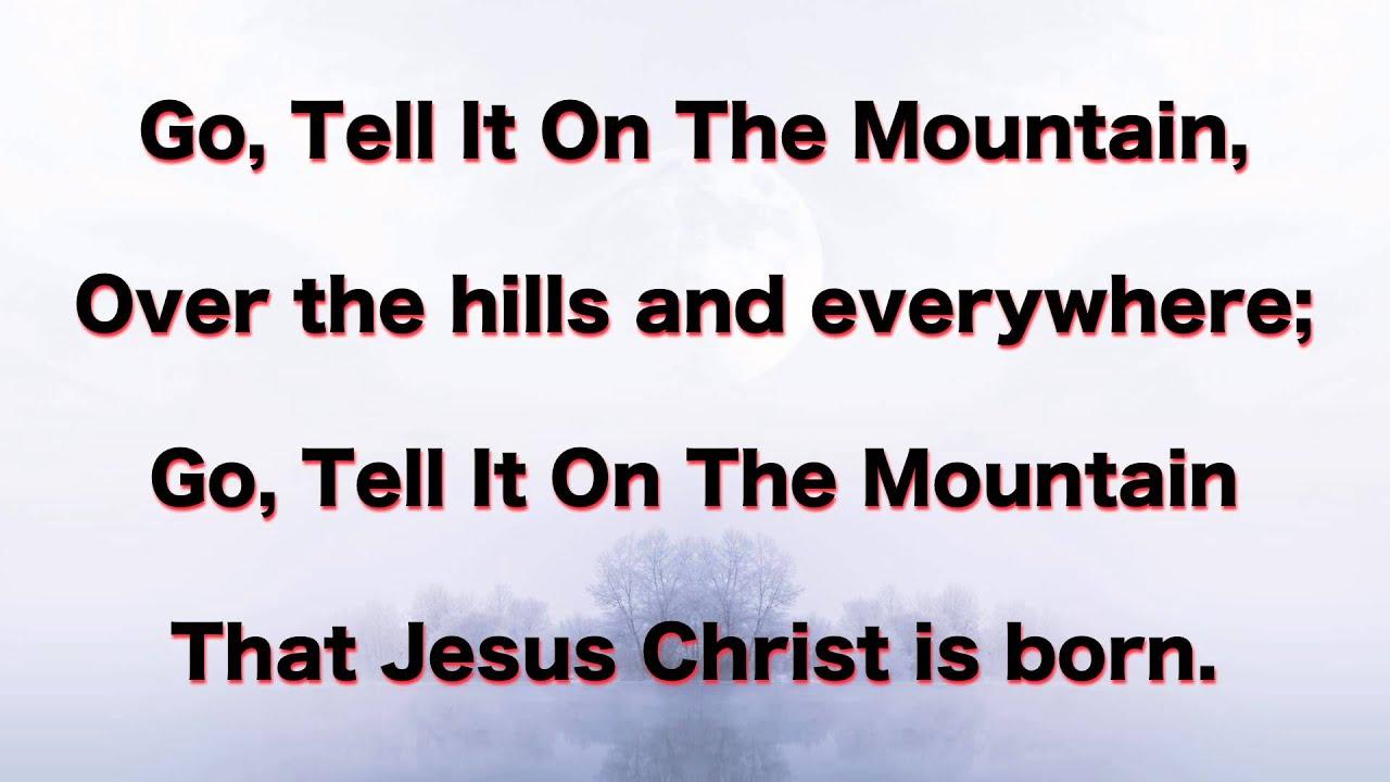 Go tell it on the mountain instrumental - YouTube