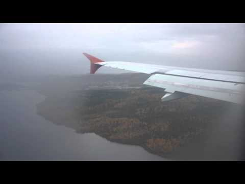 Flying to Arctic Circle, from St. Petersburg to Murmansk, Rossiya Airlines, Airbus 320