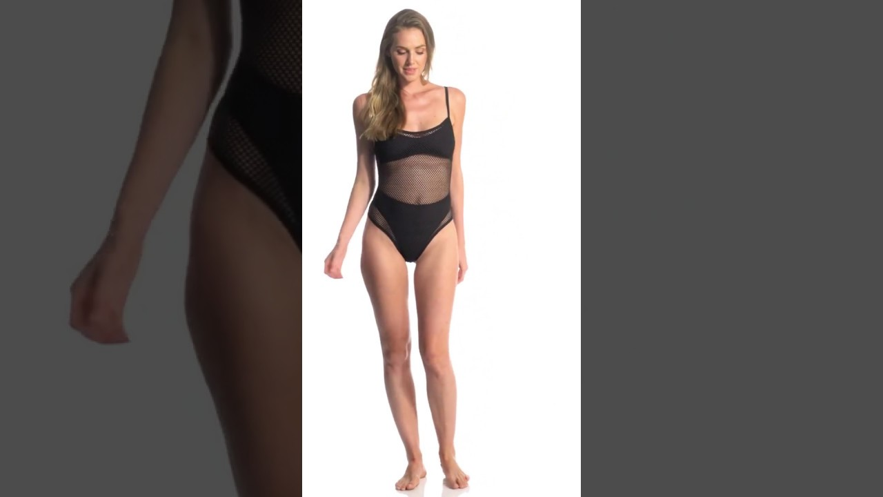9e85a135e6d L-Space Mesh Madness One Piece Swimsuit | SwimOutlet.com - YouTube