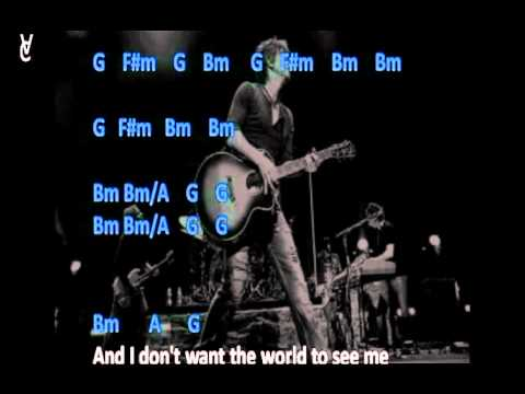 Chords And Lyrics Goo Goo Dolls Iris Youtube