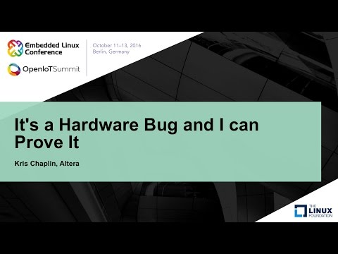 It's a Hardware Bug and I can Prove It
