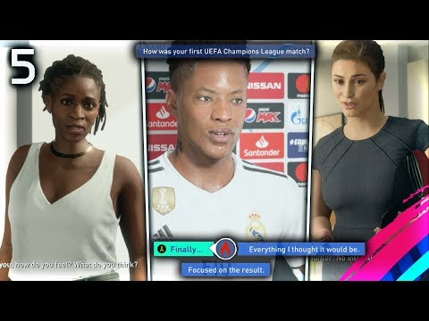 FIFA 19 THE JOURNEY Episode #5 - HUNTER CHAMPIONS LEAGUE DEBUT!  (The Journey Full Movie Series)