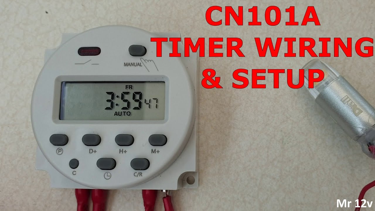 12v Dc Programmable Timer Using The Cn101a 12 Volt  Proper