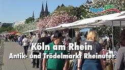 Köln | Antikmarkt am Rheinufer | Rhein-Eifel.TV