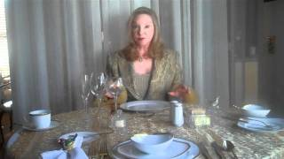 Dining Etiquette Manners by Expert Gloria Starr(Gloria Starr - Master Image, Etiquette, Communications and Leadership Coach http://www.gloriastarr.com/event-calendar Author of 12 books, DVDs and ..., 2010-12-27T22:19:09.000Z)