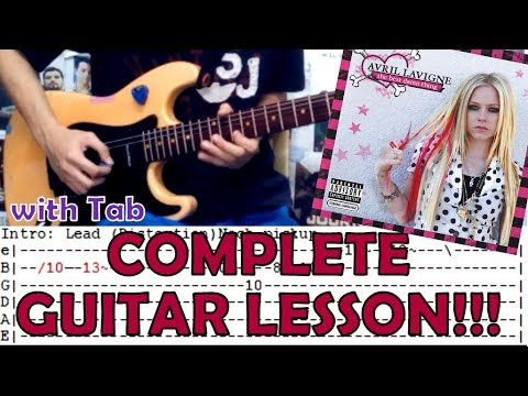 Complicated - Avril Lavigne(Complete Guitar Lesson)with Chords and Tab