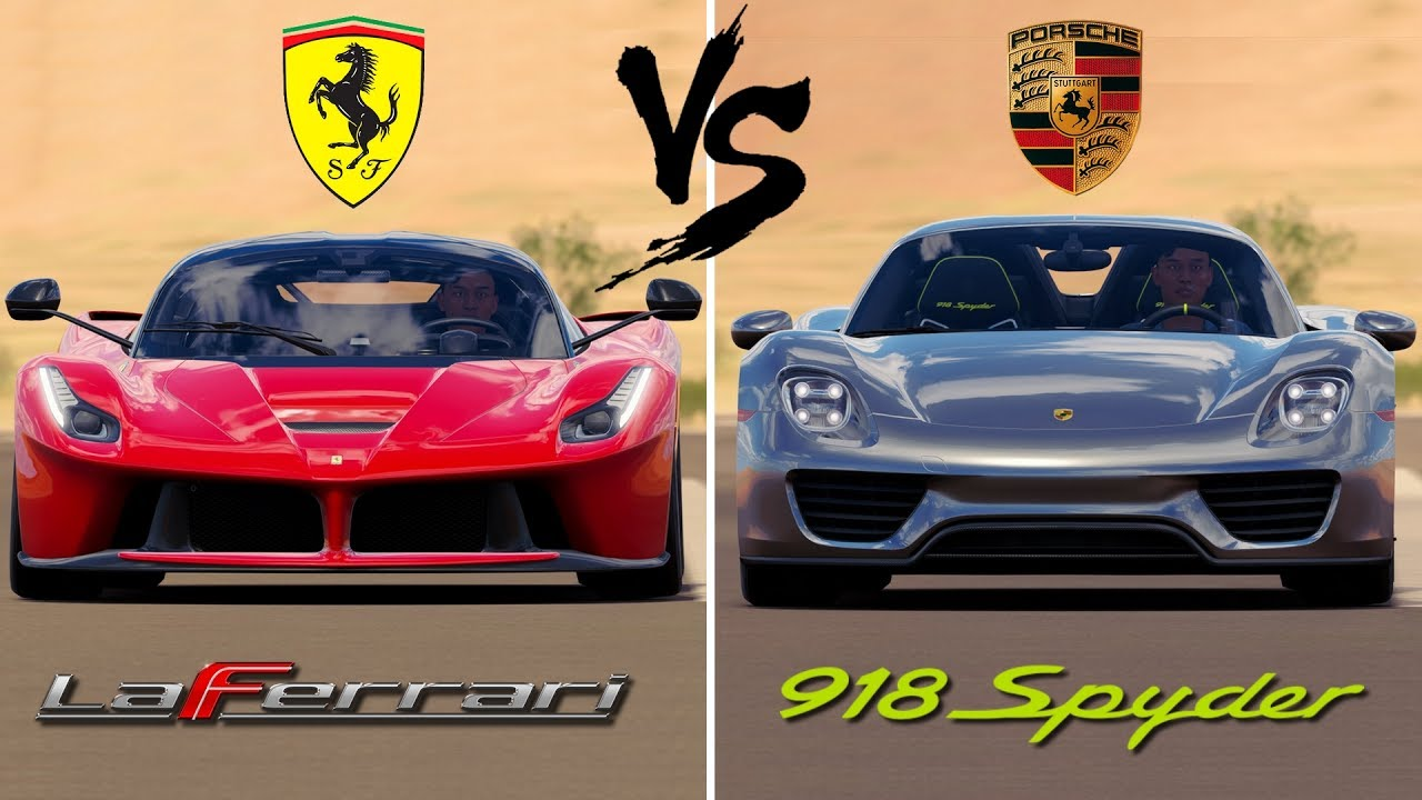 ferrari laferrari vs porsche 918 spyder forza horizon 3 youtube. Black Bedroom Furniture Sets. Home Design Ideas