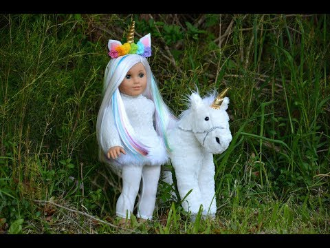 American Girl Doll Unicorn Bedroom!