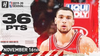 Zach LaVine Full Highlights vs Nets (2019.11.16) - 36 Pts, 3 Reb!