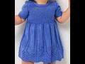 МК Детское платье спицами 2часть