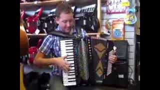 Mark plays a 2nd Hand Brandoni 96 Bass Super Musette Midi Accordion Hobgoblin Music Birmingham