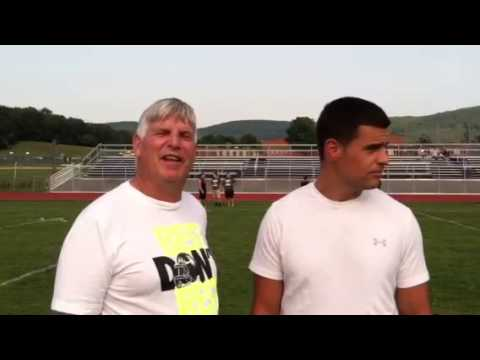M-W football coach Bernie Connolly and Cornwall coach Mike