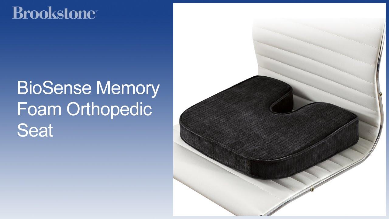 2af9aafba9c BioSense Memory Foam Orthopedic Seat - YouTube