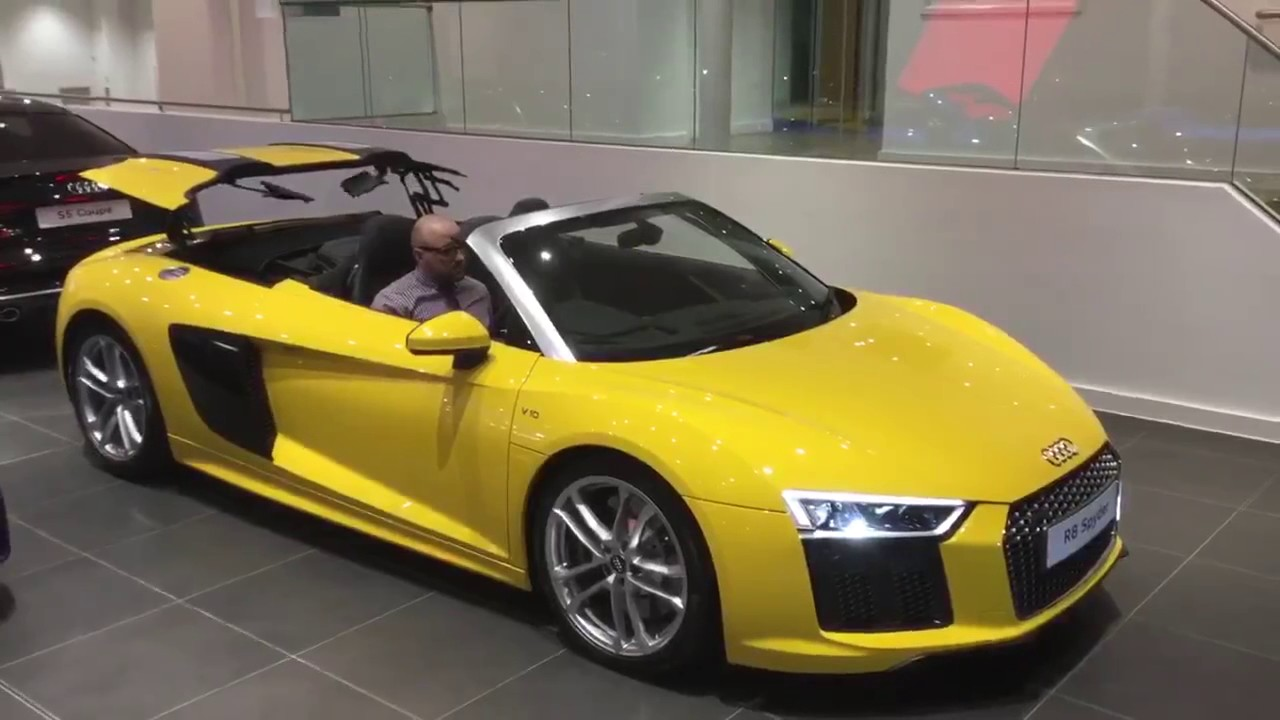 Audi R8 Spyder V10 52 Fsi Quattro 540 Ps S Tronic Vegas Yellow At Northampton Audi