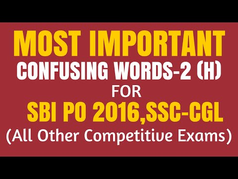 100 Most Important Confusing Words for All Competitive Exams | Fully Explained | in Hindi