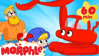 My Red Excavator - Mila and Morphle | Vehicles and Cars for Kids | Cartoons for Kids | Morphle TV