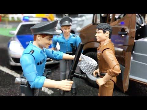 BRUDER Toys UPS Sprinter v Jack City POLICE Jack