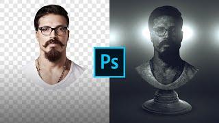 Обработка фото Эффект статуи. PSD Photoshop.