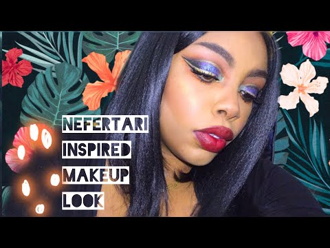 AFFORDABLE MAKEUP LOOK| NEFERTARI INSPIRED FT. Jaclyn Hill x Morphe Palette | IS IT WORTH THE HYPE? thumbnail