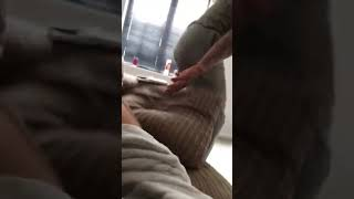 Girl farts on boyfriend to get all the sofa