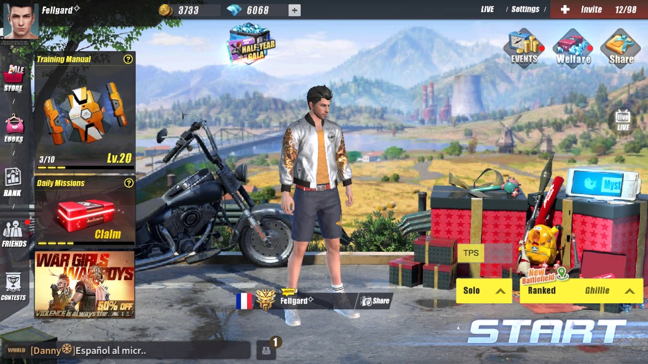 Rules Of Survival [ROS] - 100$ Sale 40$ (600k VND)