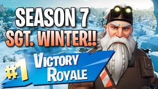 "Season 7 ""Sgt. Winter"" Skin!! (11 Frag Solo Victory) - Fortnite: Battle Royale Gameplay"