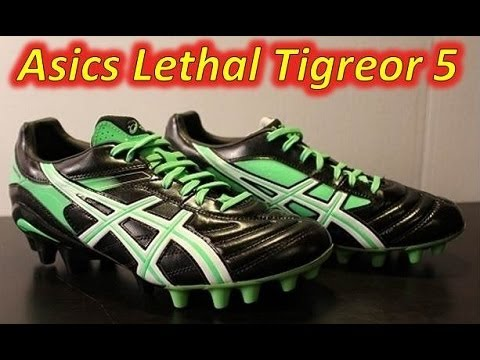 Asics Lethal Tigreor 5 Black Neon Green White - UNBOXING - YouTube 6f1eeb66a78