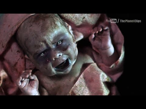 Birth Of Zombie | Inna Korobkina Giving Birth Of Infected Child | Dawn Of The Dead (2004 Film)