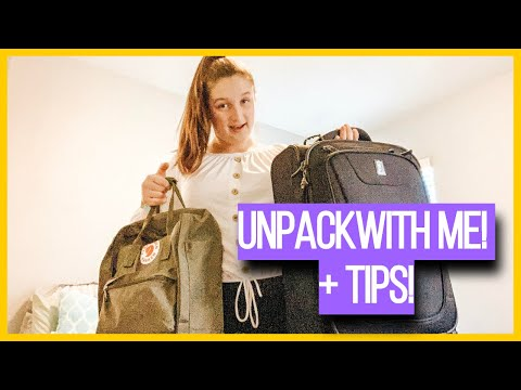 Unpack With Me + speed cleaning + vsco girl fjallraven kanken! | The Reese Sisters