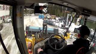 volvo l90f testing ypv ice ripper blade and ice ripper bucket
