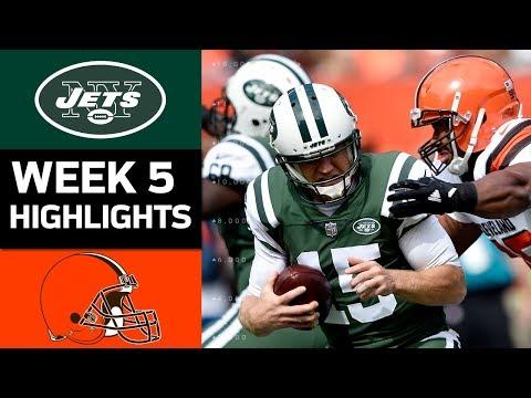 Jets vs Browns  NFL Week 5 Game Highlights