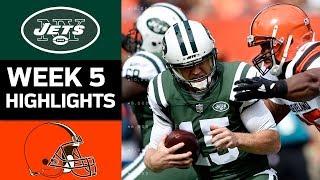 Jets vs. Browns   NFL Week 5 Game Highlights